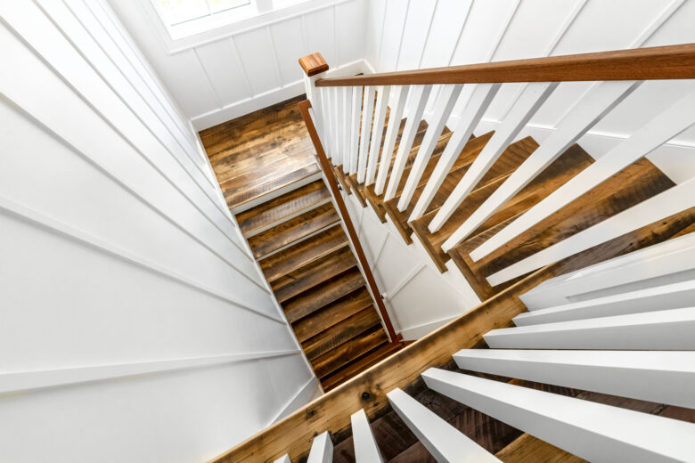 Rustic Mixed Hardwoods Stairs